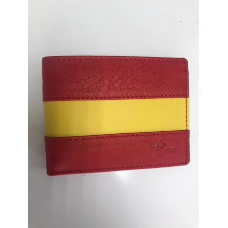 Cartera piel horizontal bandera España