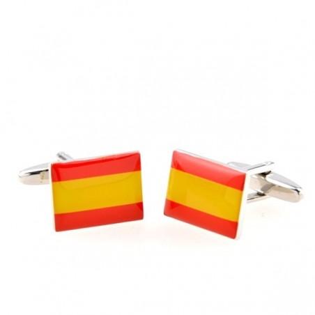Pegatina Bandera España con el Águila de San Juan.