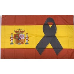 Bandera España Lazo Negro