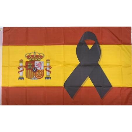 Pin de Solapa Bandera de España con Sagrado Corazón