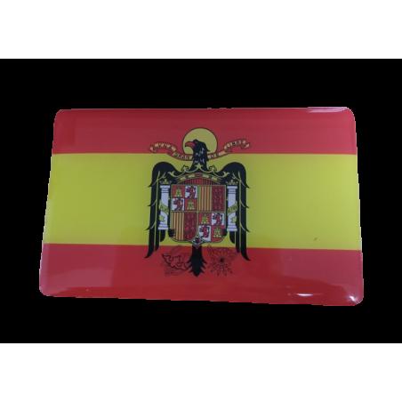 PEGATINA BANDERA DE ESPAÑA ÁGUILA DE SAN JUAN CUADRADA
