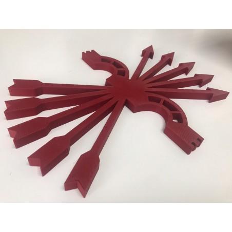 Yugo y flechas 3D pequeño