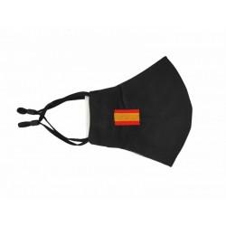 Mascarilla Negra Bandera de...