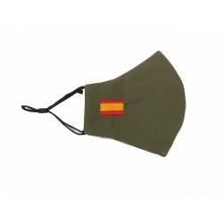 Mascarilla Verde Bandera de...