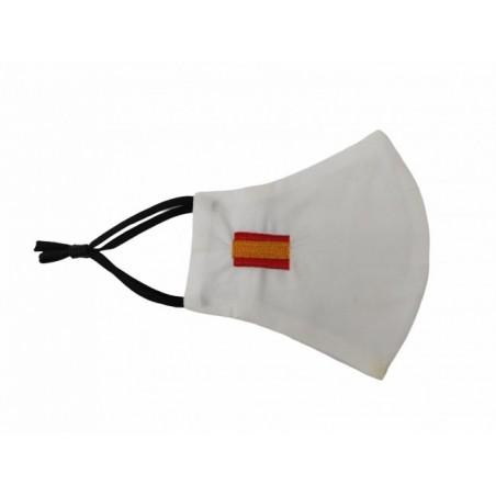 Mascarilla Blanca Bandera de España