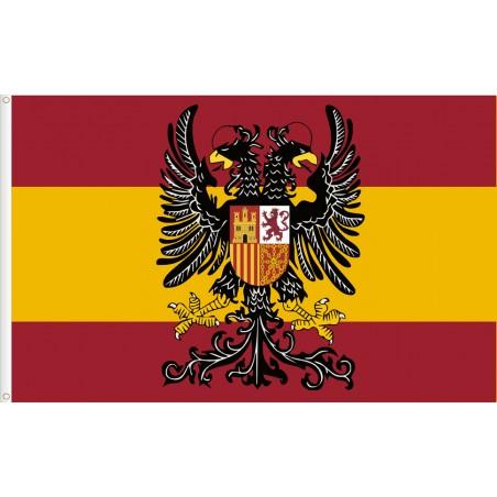 Bandera de España escudo águila bicéfala