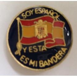 Chapa Redonda Bandera de...