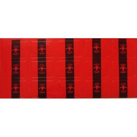 Pegatinas de Reloj Bandera de Falange con el Yugo y las Flechas.