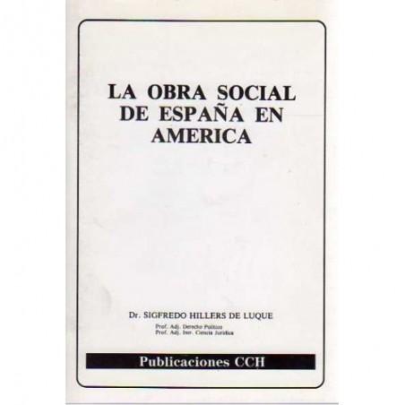 La obra social de España en Amércia