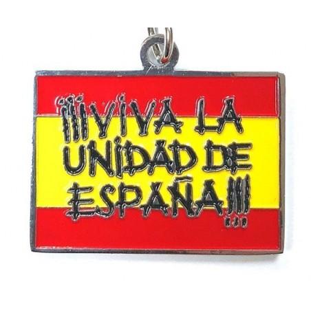 Llavero Metálico Viva la Unidad de España